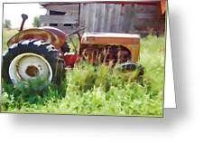 Little Red Tractor Greeting Card