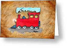 Little Red Train Greeting Card