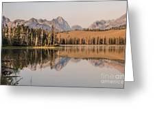 Little Redfish Lake Reflections Greeting Card