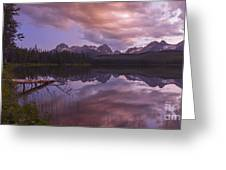 Little Redfish Lake Sunset Stanley Idaho Greeting Card