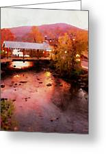 Little River Bridge At Sunset Gatlinburg Greeting Card
