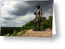 Little Round Top Hill Gettysburg Greeting Card by James Brunker