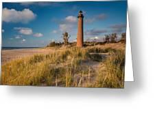 Little Sable Light Michigan Greeting Card