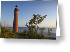 Little Sable Lighthouse By The Shore Greeting Card