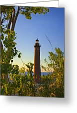Little Sable Lighthouse Seen Through The Trees Greeting Card