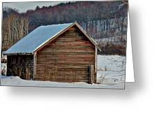 Little Shed In The Valley Greeting Card