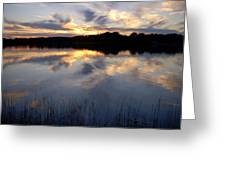 Little Silver Lake Sunset Greeting Card
