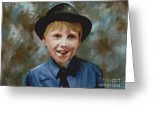 Little Sinatra Greeting Card by Sharon Burger