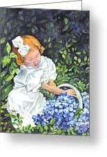 Sophies Hydrangeas Greeting Card