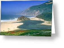 Little Sur River In Big Sur Greeting Card