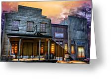 Little Town Greeting Card by Joel Payne