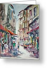 Little Trip At Exotic Streets In Istanbul Greeting Card