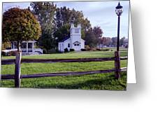 Little Village Chapel Of The Immanuel Lutheran Church Greeting Card