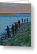 Liturgy Of The Salmon Fishing. Doctor Andrzej Goszcz. Greeting Card