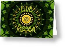Live Green 1 Greeting Card