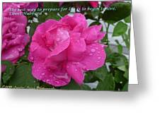 Live To Life Greeting Card