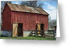 Livestock Barn Greeting Card