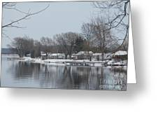 Living By The River Greeting Card