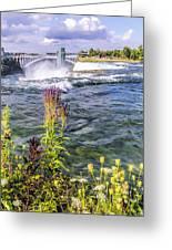 Living On The Edge Niagara Falls Greeting Card