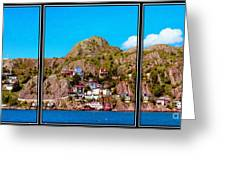 Living On The Edge Of The Battery Painterly Triptych Greeting Card