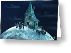 Living On The Moon Greeting Card