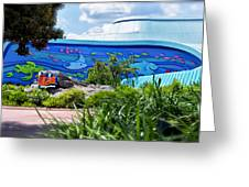 Living Seas Signage Walt Disney World Greeting Card