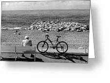 Living The Dream.nice.france.bw Greeting Card