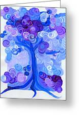 Liz Dixon's Tree Blue Greeting Card