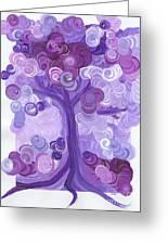 Liz Dixon's Tree Purple Greeting Card