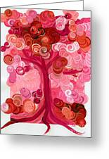 Liz Dixon's Tree Red Greeting Card