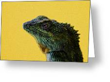 Lizard Greeting Card by Karen Walzer
