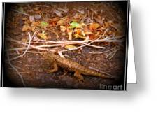Lizard On The Loose Greeting Card
