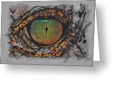 Lizards Eye Greeting Card