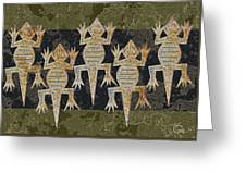 Lizards On The Wall Greeting Card