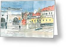 Ljubljana - Dragon's Bridge Greeting Card