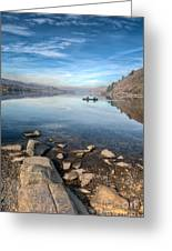Llanberis Lake Greeting Card by Adrian Evans