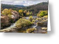 Llangollen And The River Dee Greeting Card