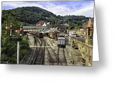 Llangollen Railway Station Greeting Card