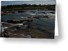 Llano River 2am-105143 Greeting Card