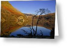 Llyn Gwynant Is A Lake In Snowdonia  Wales Greeting Card