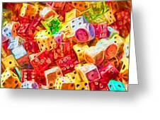 Loaded Dice Greeting Card