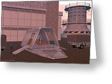 Loading A Cargo Pod Greeting Card