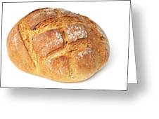 Loaf Of Bread On White Greeting Card by Matthias Hauser