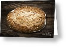 Loaf Of Multigrain Artisan Bread Greeting Card by Elena Elisseeva