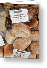 Loaves Of Organic Bread Greeting Card