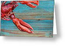 Lobster Blissque Greeting Card by Danny Phillips