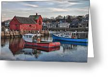 Lobster Boats At Motif 1 Greeting Card