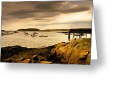 Lobster Boats Cape Porpoise Maine Greeting Card