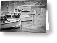 Lobster Boats In Bass Harbor And Bernard Maine  Greeting Card