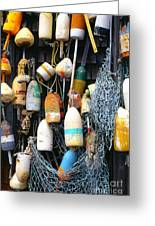 Lobster Buoys Fishermans Shed Greeting Card
